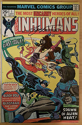 Marvel's The Inhumans #1, 1975, VF-NM, signed by GEORGE PEREZ! 1st solo title!