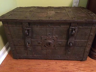 17th Century German Armada Chest Strongbox