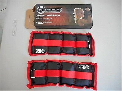 INC Sports 2 x 0.5 kg Wrist Weights NEW IN BOX fitness training toning strength