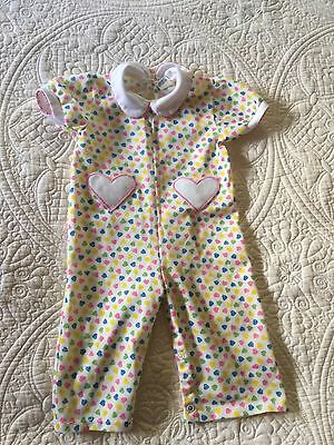 VINTAGE  CARTERS INFANT  GIRLS ONE PIECE OUTFIT.  SIZE 18 Mon. 23-26 Lbs.