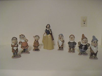 LLADRO Snow White and the 7 Dwarfs Collection Retired NIB