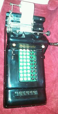 Vintage Burroughs 5 Column Adding Machine