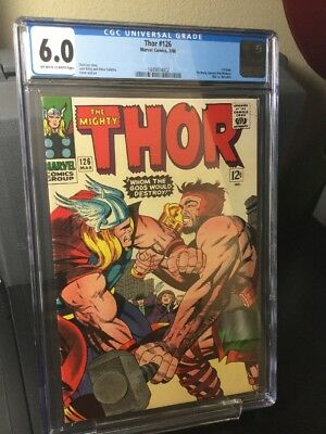 Thor #126 - 1966 - CGC 6.0 off - white to white pages