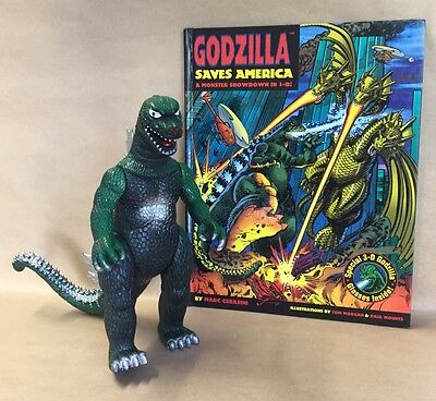 Godzilla Book + Toy Figure