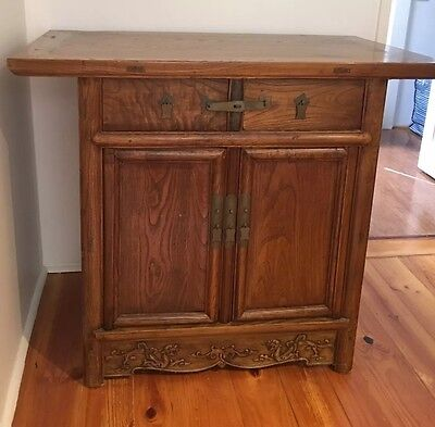 Antique Furniture - Korean Chest 2 Drawers 2 Doors Melb.