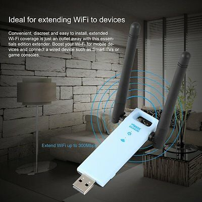 300Mbps Mini Wireless Repeater Router Signal Booster USB Range Extender GA