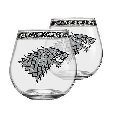 Game of Thrones Stark Globe Glasses Set of 2