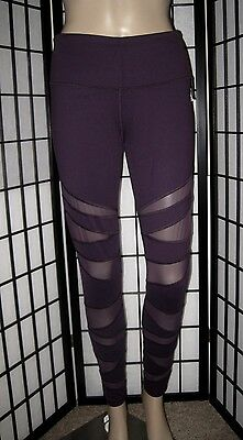 Nwt Victoria's Secret Sport Blackberry Mesh Panel Knockout Tight Yoga Leggings