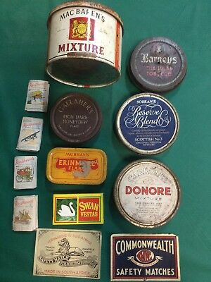 Old Vintage Cigarette Tobacco advertising tins Redheads
