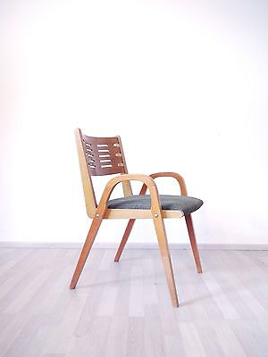 VINTAGE RETRO MID CENTURY 50s 60s PLYWOOD CHAIR UPHOLSTERED SEATING