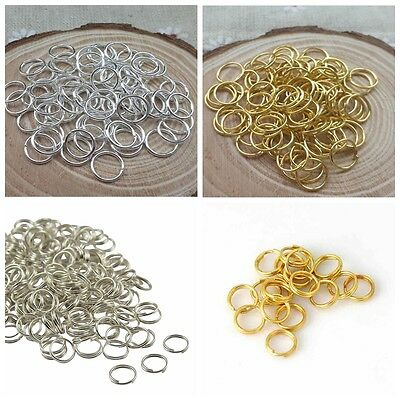 Silver/Gold Plated Open Jump Rings Connector Jewelry Findings 4/5/6/7/8/9/10mm