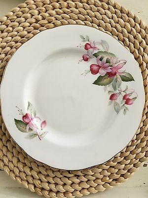 DUCHESS - FUCHSIA - Vintage BONE CHINA SIDE PLATE - England