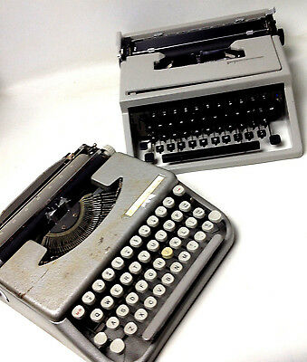 2 x Vintage Typewriters for repair or parts English made and Olivetti