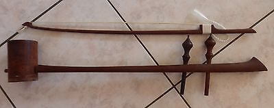 Cambodian Traditional Stringed Instrument - Tro Sau Thom - Made from Hardwood