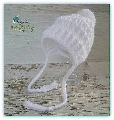 NEWBORN Crochet Knitted Baby Pompom Beanie Bonnet Hat Photo Prop