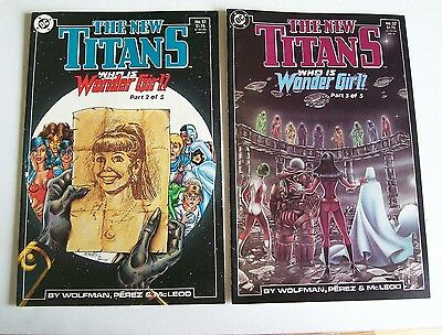 The New Teen Titans Issues #51 & 52  - Who Is Wonder Girl - Dc Comics