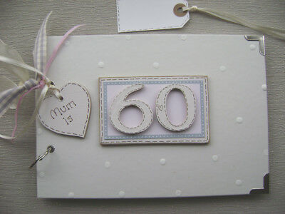 PERSONALISED 60th  birthday .A5  SIZE PINK  PHOTO ALBUM/SCRAPBOOK/MEMORY BOOK.