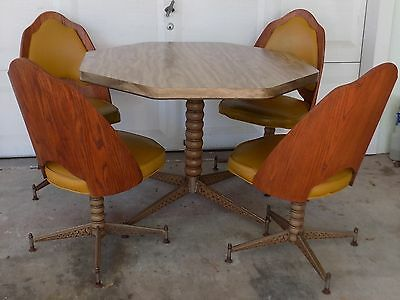 Vintage Brody Mid-Century Dinette Bent Wood Chairs Table
