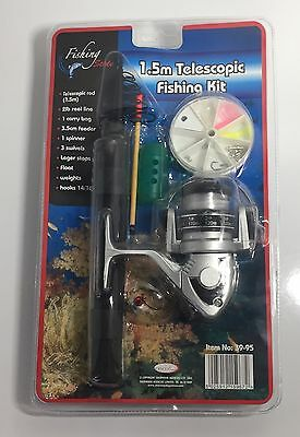 Fishing Kit 1.5m Telescopic Rod And Accessories Brand New Free Delivery