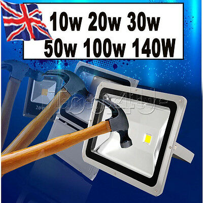 10/20/30/50/100/140W Watt LED Security FloodLight Garden Outdoor Forecourt Light
