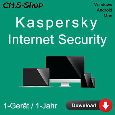 Kaspersky Internet Security 1-Gerät PC 2017 - 1-Jahr  WIN - MAC - Android / KEY