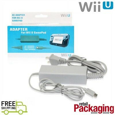 Home Wall AC Power Adapter Supply Cable Cord US Plug For Nintendo Wii U Gamepad