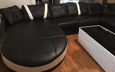 ledercouch sofa wohnlandschaft echtleder u form himolla longlife eur 499 00. Black Bedroom Furniture Sets. Home Design Ideas