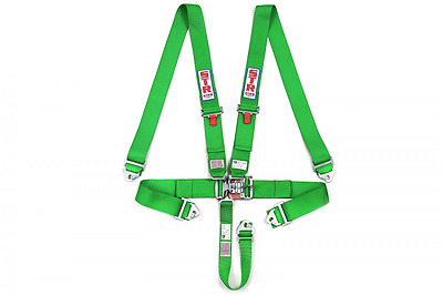 STR SFI Approved 5 Point Racing Safety Harness Belt NASCAR Buckle F2 F1 - Green