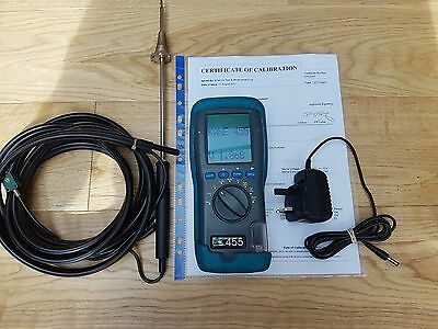 KANE 455 Flue Gas Analyser Kit - Calibrated til 11th August 2018 Brilliant Cond