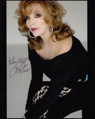 "JOAN COLLINS  - 10"" x 8"" Portrait Photograph PERSONALLY SIGNED To BARTLETT F#10"