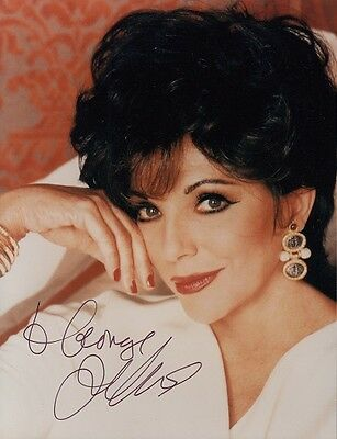 "JOAN COLLINS  - 5"" x 4"" Portrait Photograph PERSONALLY SIGNED To GEORGE F#10"