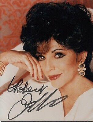 "JOAN COLLINS  - 5"" x 4"" Portrait Photograph PERSONALLY SIGNED To ROBERT F#10"