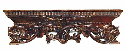 Scrolled Acanthus Wall Shelf 6917 Made in USA in 40 Colors