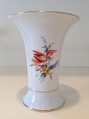 Hochst Floral Porcelain Vase #2 Hand-Painted Made in Germany New