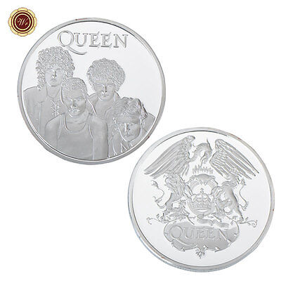 WR POP & ROCK QUEEN Music 24K Silver Plated Memorabilia Coin Fans Gift +Capsule