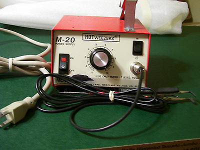 Meisei M20 Power Supply With Mod 7C Weezers/thermal Stripper With Knife/tweezers