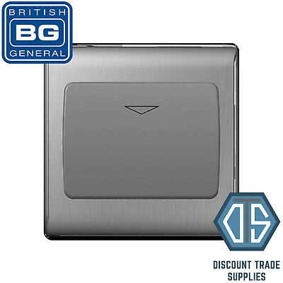 BG Nexus Metal Brushed Steel Satin 16A Hotel Key Card Switch 1 Gang NBSKYCSG