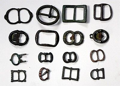 Collection Of Ancient British Buckles
