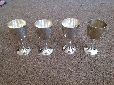 India Silver Set Of Goblets