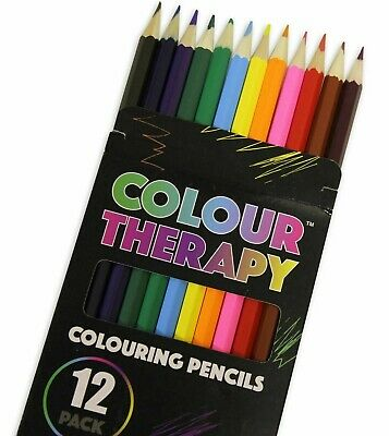12 Pack Colour Pencils Drawing Markers Painting Colouring Art School Box of 12