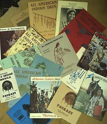 Lot of 16 All American Indian Days Program Booklets - Sheridan, Wyoming