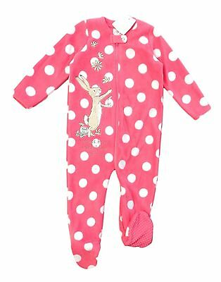 GUESS HOW MUCH I LOVE YOU pink cuddly fleece SLEEP /play SUIT 12/18M /86cm NWT