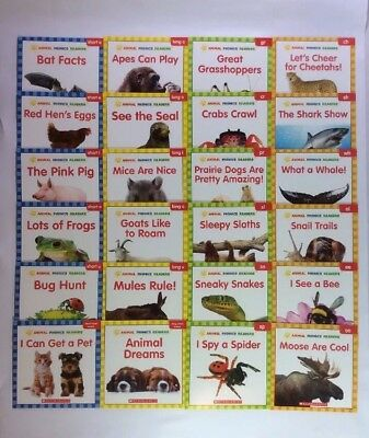Children's Books Lot 24 Animals C-F Leveled Readers Learning to Read