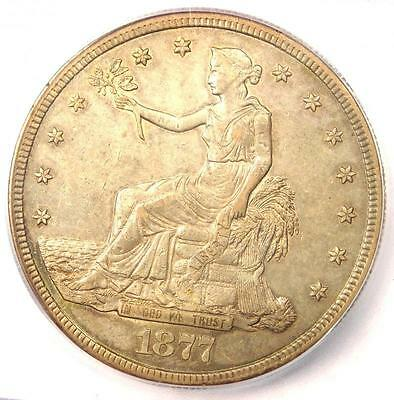 1877-S Trade Silver Dollar T$1 - Certified ICG AU50 - Rare Certified Coin!