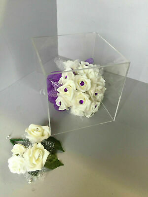 Acrylic Display Cubes 5 Sided Open 1 End 400mm