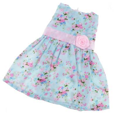 18inch Cute Dolls Party Dresses w/ Flowers Decoration for American Girl Doll