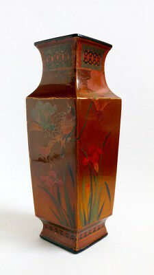 Japanese Meiji, Cloisonné Lacquer on Porcelain vase. Similar to Totai Tree Bark.