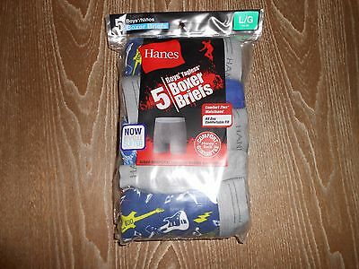 !!! Great Deal On 5 Pairs Of Hanes Boy's Boxer Briefs Size L/g 14-16 !!!