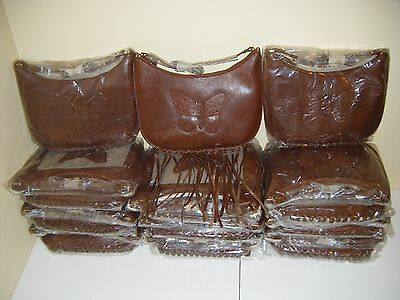 HUGE Brown Faux Leather Butterfly Purse Wholesale Resell LOT