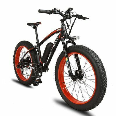 1000W 48V Electric Bike eBike Snow Cruiser Bicycle 7 Speed Cycling 4.0 Fat Tire
